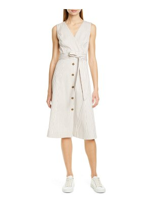 Nordstrom Signature stripe button front dress