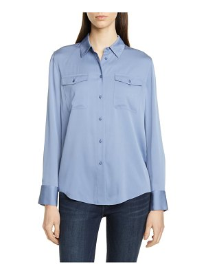 Nordstrom Signature two-pocket stretch silk shirt