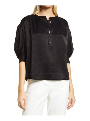 Nordstrom textured puff sleeve blouse