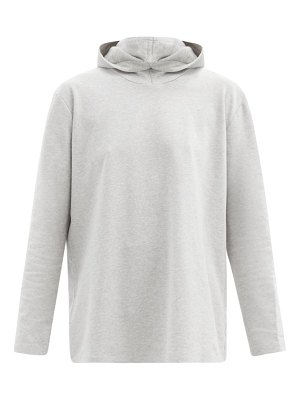 Norma Kamali boyfriend hooded cotton-blend jersey top