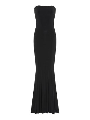 Norma Kamali fishtail strapless jersey gown