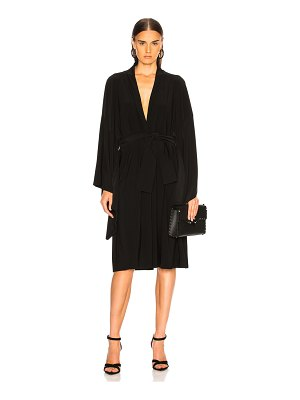 Norma Kamali for FWRD Midcalf Wrap Dress