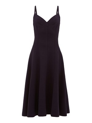 Norma Kamali grace raw-seam panelled midi dress