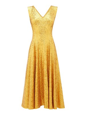 Norma Kamali grace sequinned midi dress