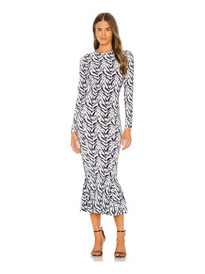 Norma Kamali long sleeve crew fishtail dress