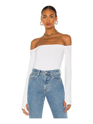 Norma Kamali long sleeve off shoulder top