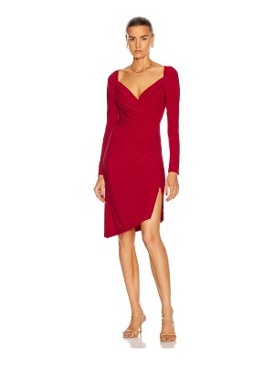 Norma Kamali long sleeve sweetheart dress