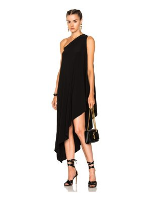 Norma Kamali One Shoulder Diagonal Dress