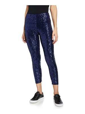 Norma Kamali Overlapping Sequin Leggings