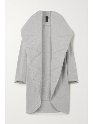 Norma Kamali oversized quilted mélange stretch cotton-jersey coat