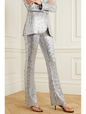 Norma Kamali sequined jersey flared pants