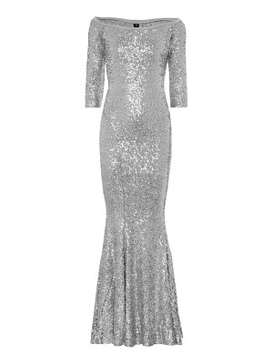 Norma Kamali sequined mermaid gown