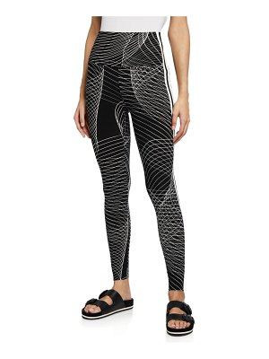 Norma Kamali Side-Stripe High-Waist Active Leggings