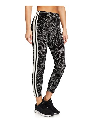 Norma Kamali Side-Stripe Jogger Pants