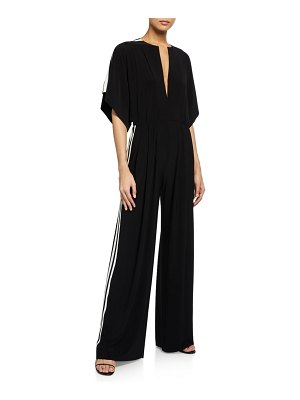 Norma Kamali Side-Stripe Rectangle Jumpsuit