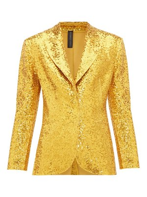 Norma Kamali single-breasted sequin blazer