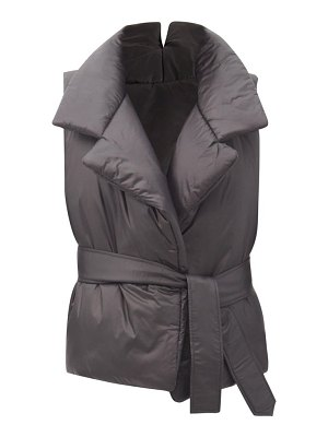 Norma Kamali sleeping bag belted padded gilet