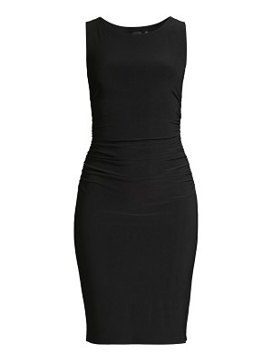 Norma Kamali sleeveless shirred waist dress