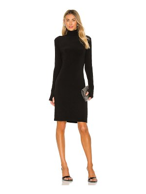 Norma Kamali slim fit turtleneck dress