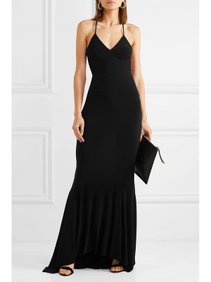 Norma Kamali stretch-jersey maxi dress