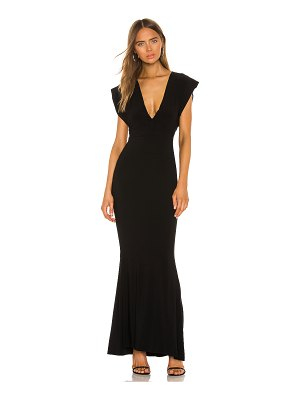 Norma Kamali x revolve v neck rectangle gown