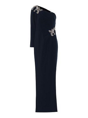 Notte by Marchesa beaded crêpe gown