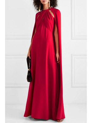 Notte by Marchesa cape-effect crepe gown