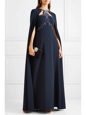 Notte by Marchesa cape-effect embellished crepe gown