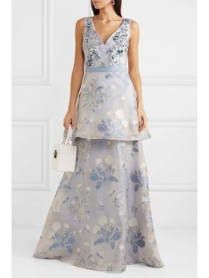 Notte by Marchesa embellished fil coupé tulle gown