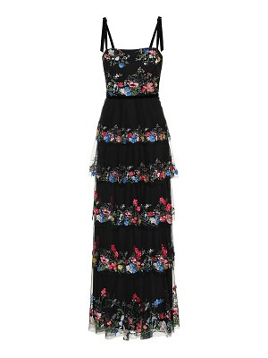 Notte by Marchesa embellished floral tulle gown