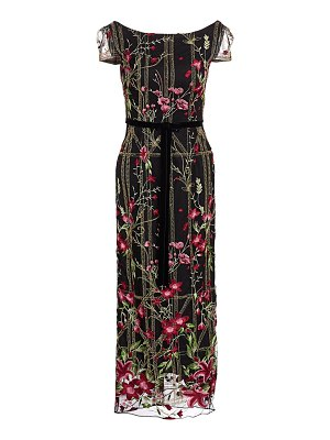 Notte by Marchesa embroidered floral cocktail dress