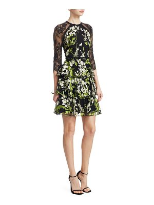 Notte by Marchesa embroidered lace tulle dress