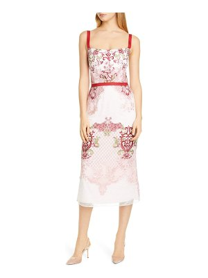 Notte by Marchesa embroidered pencil dress
