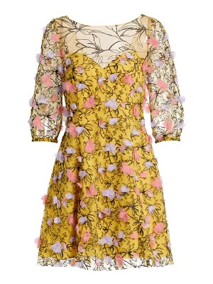 Notte by Marchesa embroidered tulle dress