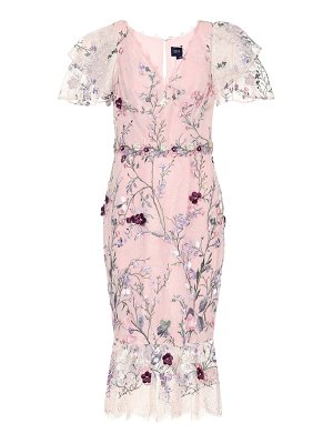 Notte by Marchesa embroidered tulle midi dress