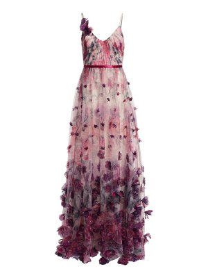 Notte by Marchesa floral appliqué ball gown
