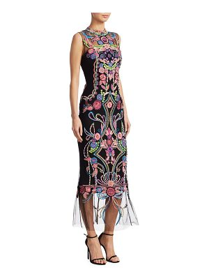 Notte by Marchesa floral embroidery dress