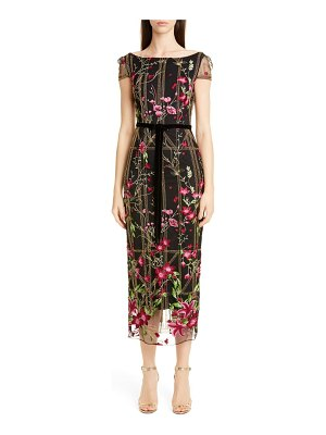 Notte by Marchesa floral embroidered midi dress