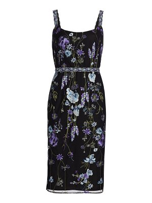 Notte by Marchesa floral embroidered tulle sheath dress