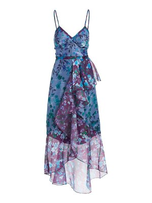 Notte by Marchesa floral ruffle cocktail dress
