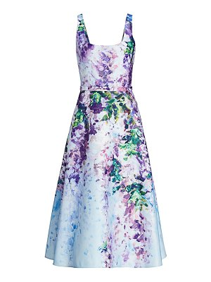 Notte by Marchesa floral satin fit & flare dress