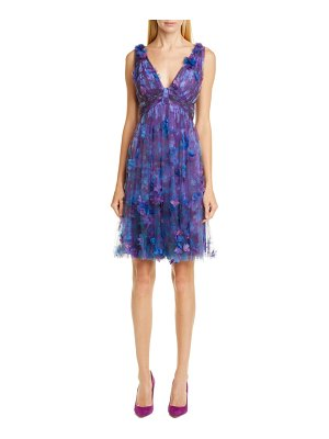 Notte by Marchesa floral tulle cocktail dress