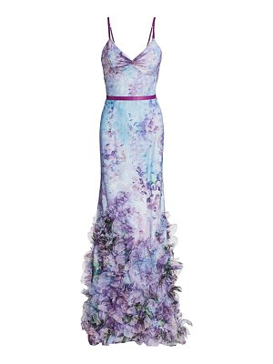 Notte by Marchesa floral tulle mermaid gown