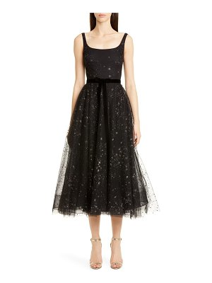 Notte by Marchesa glitter star tulle cocktail dress