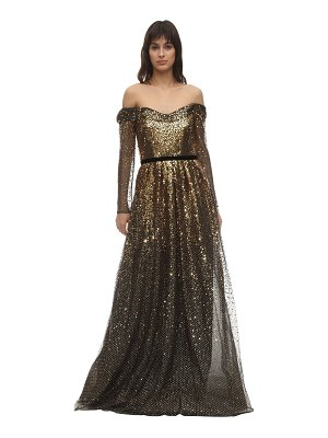 Notte by Marchesa Gradient sequined gown