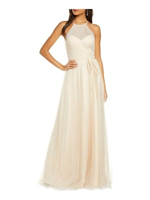 Notte by Marchesa halter tulle bridesmaid gown