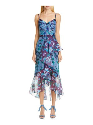 Notte by Marchesa high/low chiffon midi dress