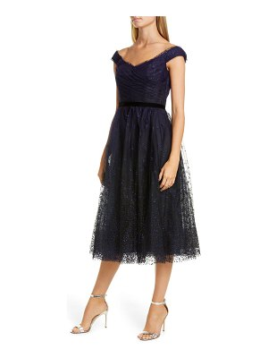 Notte by Marchesa off the shoulder tulle cocktail dress