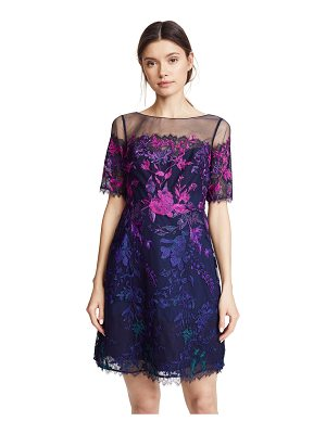 Notte by Marchesa ombre cocktail dress with floral embroidery