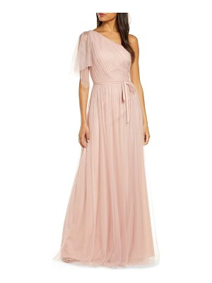 Notte by Marchesa one-shoulder a-line bridesmaid gown